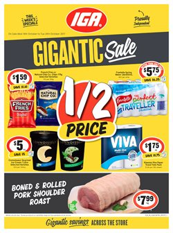 Grocery offers in the IGA catalogue in Rockingham WA