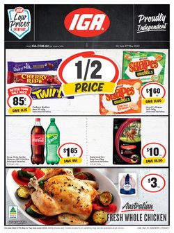 Supermarkets offers in the IGA catalogue in Newcastle NSW ( Expires tomorrow )