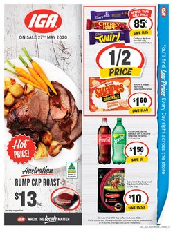Supermarkets offers in the IGA catalogue in Joondalup WA ( 3 days left )