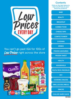 Supermarkets specials in the IGA catalogue ( More than one month)