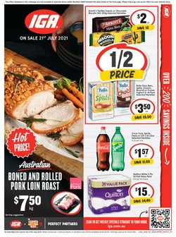 Supermarkets specials in the IGA catalogue ( Expires today)