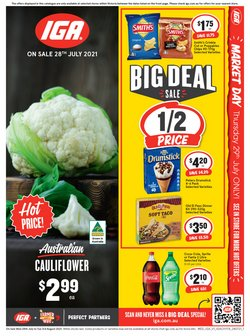 Supermarkets specials in the IGA catalogue ( Published today)