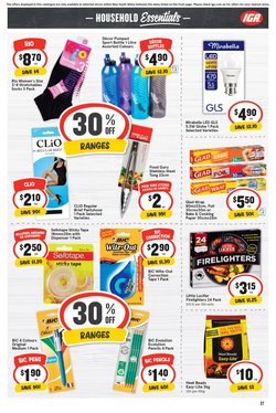 Bic specials in the IGA catalogue ( Expires today)