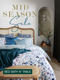 Homeware & Furniture offers in the Bed Bath N' Table catalogue ( 3 days left )