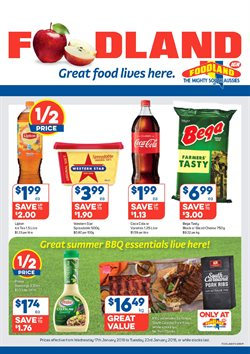 Offers from Foodland in the Adelaide SA catalogue