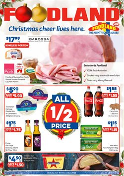 Supermarkets offers in the Foodland catalogue ( 1 day ago )