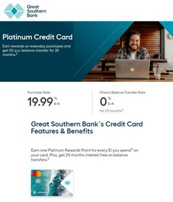 Banks specials in the Great Southern Bank catalogue ( More than one month)