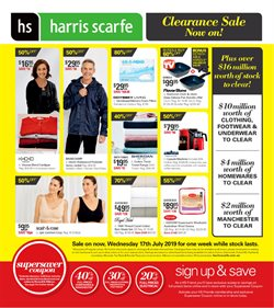 Offers from Harris Scarfe in the Knox VIC catalogue