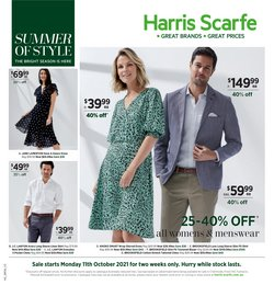 Department Stores specials in the Harris Scarfe catalogue ( Expires tomorrow)