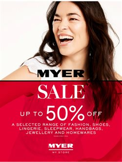 Offers from Myer in the Hobart TAS catalogue