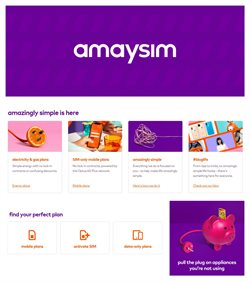 Offers from Amaysim in the Perth WA catalogue