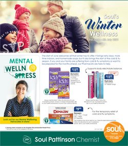 Pharmacy, Beauty & Health specials in the Soul Pattinson Chemist catalogue ( 14 days left)