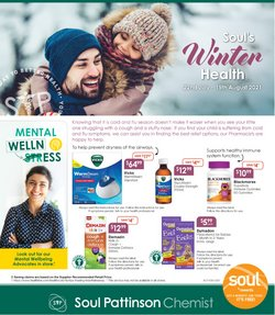 Pharmacy, Beauty & Health specials in the Soul Pattinson Chemist catalogue ( 21 days left)