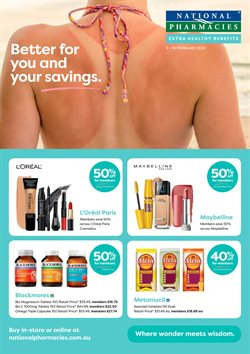 Offers from National Pharmacies in the Adelaide SA catalogue