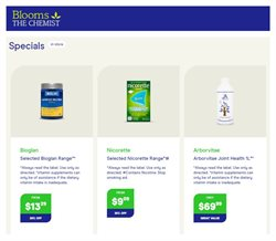 Offers from Blooms The Chemist in the Sydney NSW catalogue