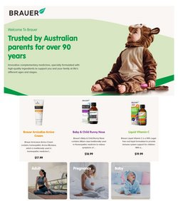 Brauer specials in the Blooms The Chemist catalogue ( More than one month)