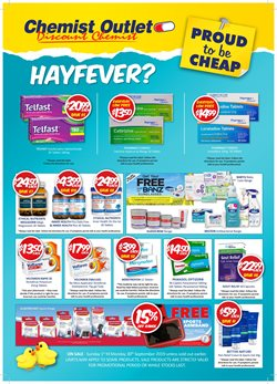 Offers from Chemist Outlet in the Central Coast NSW catalogue