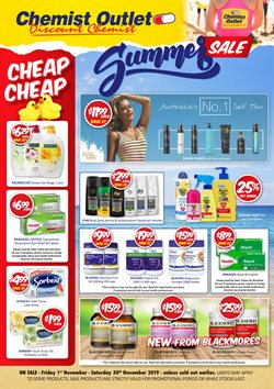 Offers from Chemist Outlet in the Sydney NSW catalogue