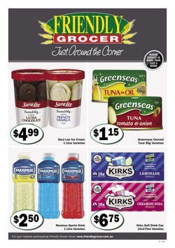 Offers from Friendly Grocer in the Brisbane QLD catalogue
