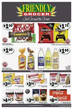 Supermarkets specials in the Friendly Grocer catalogue ( 3 days left)