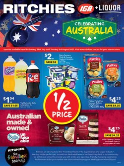 Supermarkets specials in the Ritchies catalogue ( Expires tomorrow)