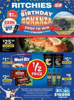 Supermarkets specials in the Ritchies catalogue ( 2 days left)