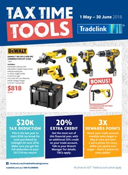 Offers from Tradelink in the Melbourne VIC catalogue