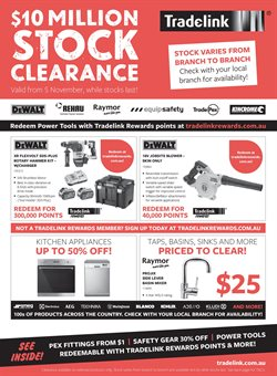 Offers from Tradelink in the Sydney NSW catalogue