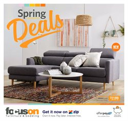 Offers from Focus On Furniture in the Melbourne VIC catalogue