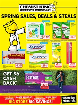 Offers from Chemist King in the Adelaide SA catalogue