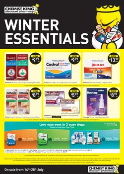 Pharmacy, Beauty & Health specials in the Chemist King catalogue ( 2 days left)