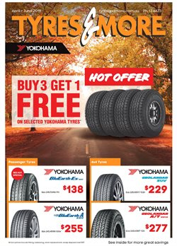 Offers from Tyres & More in the Brisbane QLD catalogue