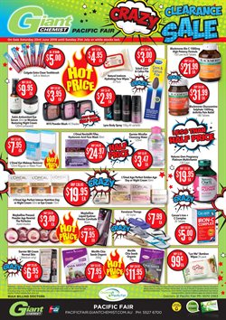 Offers from Giant Chemist in the Gold Coast QLD catalogue