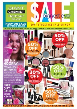 Pharmacy, Beauty & Health specials in the Giant Chemist catalogue ( Expires today)