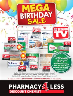 Offers from Pharmacy4Less in the Sydney NSW catalogue