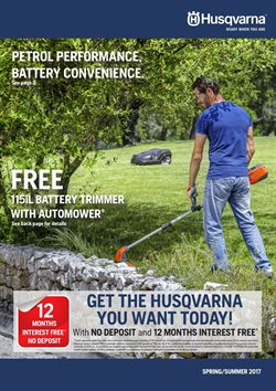 Garden, Tools & Hardware offers in the Husqvarna catalogue in Kingaroy QLD