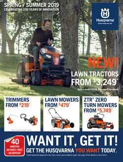 Offers from Husqvarna in the Melbourne VIC catalogue