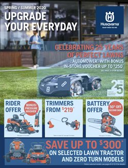 DIY & Garden offers in the Husqvarna catalogue in Wallan VIC ( More than one month )