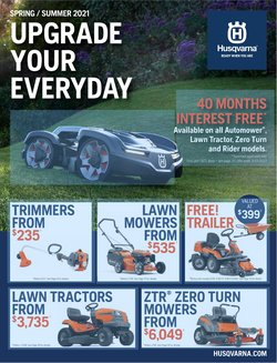 DIY & Garden specials in the Husqvarna catalogue ( More than one month)