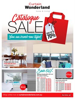Sales offers in the Curtain Wonderland catalogue in Newcastle NSW