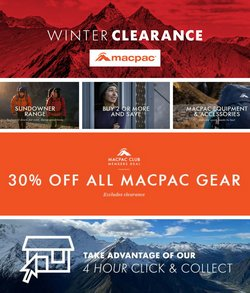 Macpac specials in the Macpac catalogue ( 13 days left)