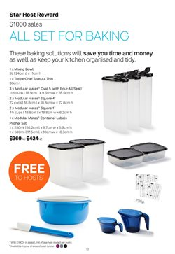 Offers of Sales in Tupperware