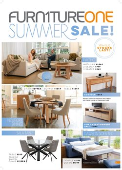 Furniture One specials in the Furniture One catalogue ( Expired)