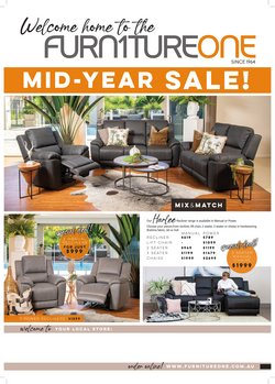 Furniture One specials in the Furniture One catalogue ( 22 days left)