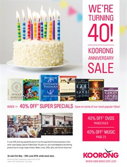 Books & Leisure offers in the Koorong catalogue in Brisbane QLD