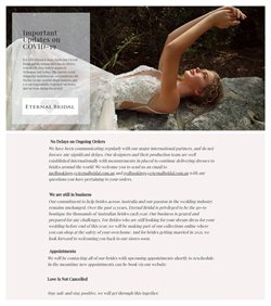 Weddings offers in the Eternal Bridal catalogue in Melbourne VIC ( 9 days left )