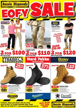 Offers from Aussie Disposals in the Melbourne VIC catalogue