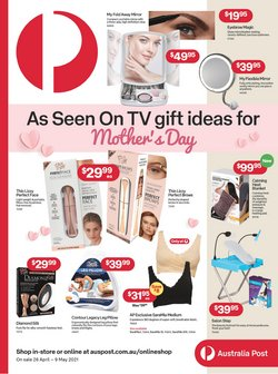 Mother's day specials in the Australia Post catalogue ( 3 days left)