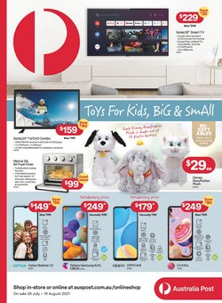 Electronics & Appliances specials in the Australia Post catalogue ( 15 days left)