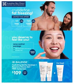Offers from Australian Skin Clinics in the Brisbane QLD catalogue